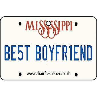 Mississippi - Best Boyfriend License Plate Car Air Freshener