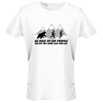 Ser agradable a gordos graciosos mujeres camiseta 8 colores por swagwear