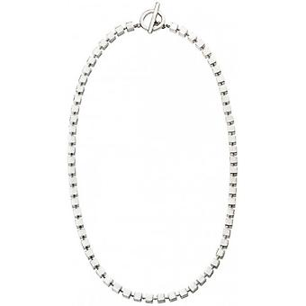 Beginnings Toggle Cube T Bar Necklace - Silver