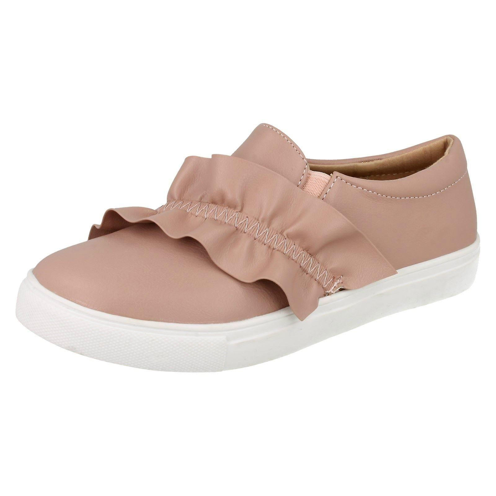 Girls Spot On Flat Ruffle Vamp Flat On Shoes H2458 df777d