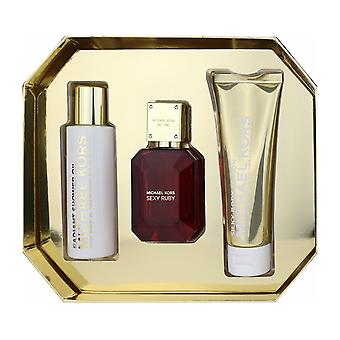 Michael Kors Sexy Ruby 3 Piece Gift Set ($157 Value)