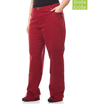 sheego pants women of stretch jeans plus size long size Red