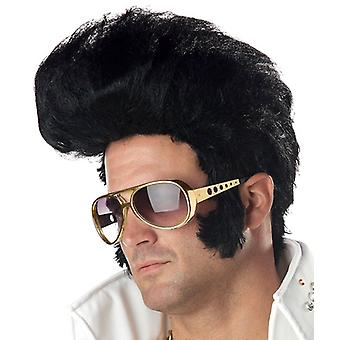 Rock N Roll Elvis King 50s 60s Grease Men Costume Wig