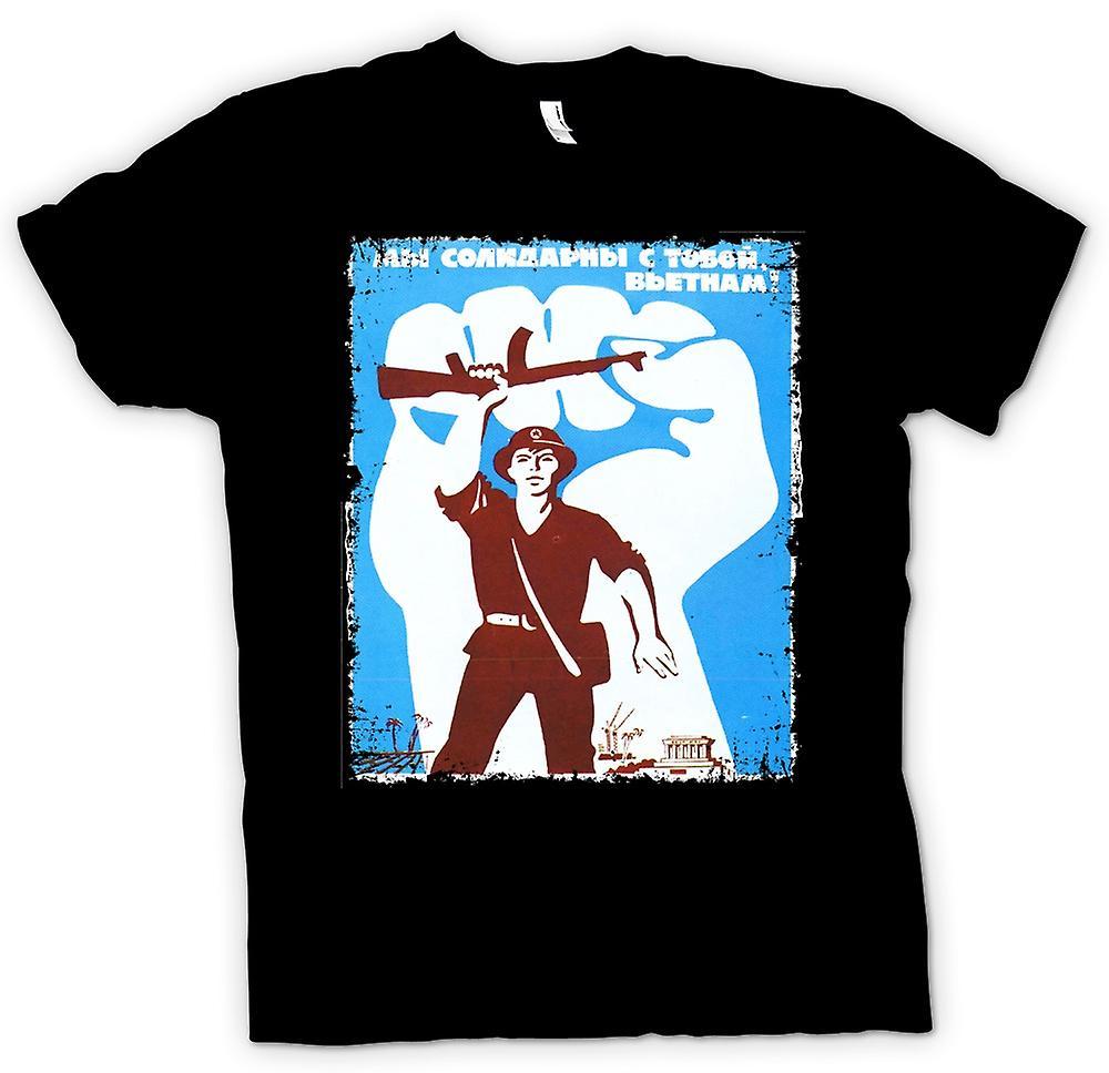 Heren T-shirt - Vietnam VC NVA - oorlog Poster