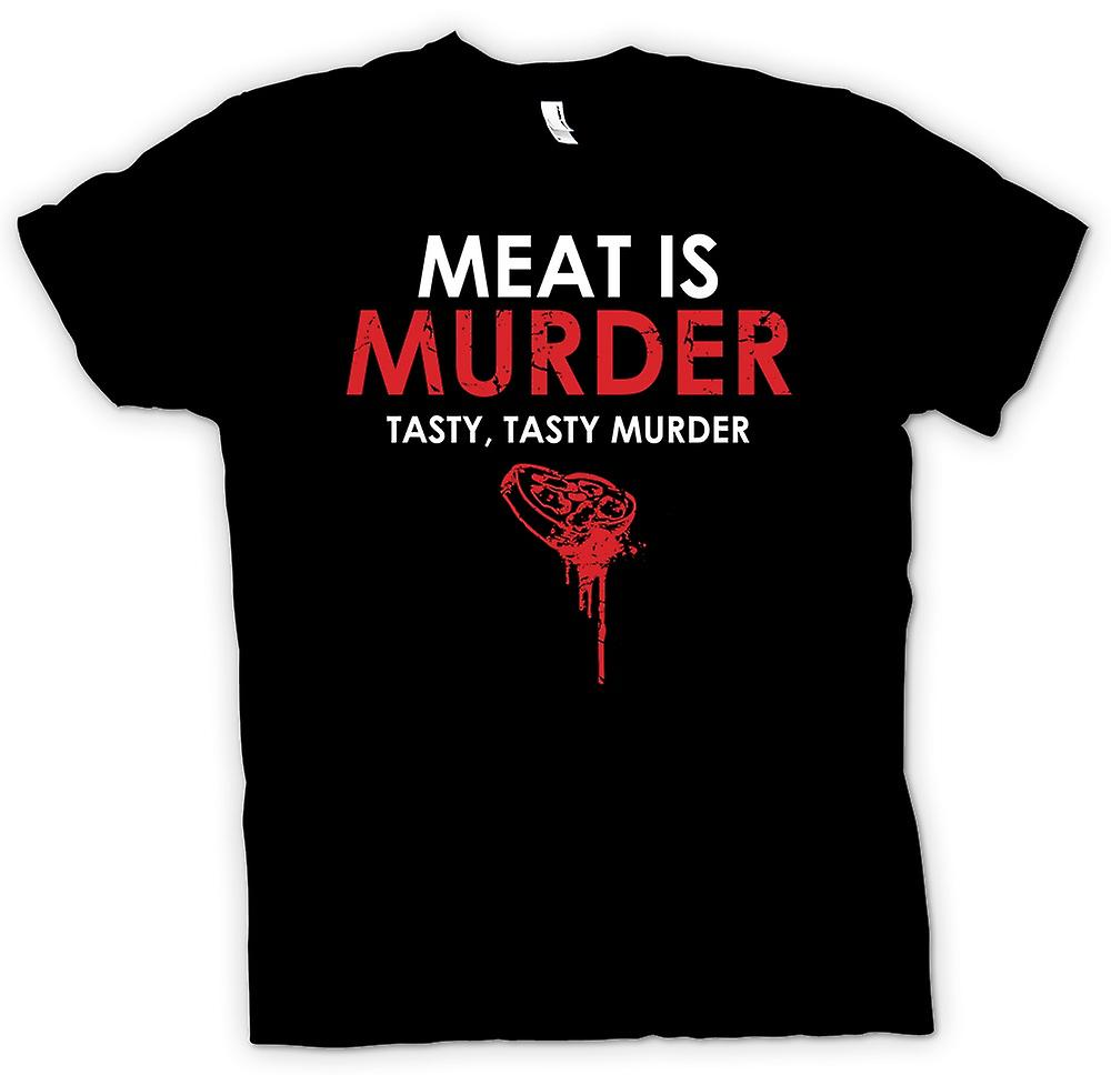 Mens T-shirt - Meat Is Murder, Tasty Tasty Murder - Funny