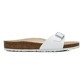 Birkenstock Womens Madrid White Birko Flor Sandals