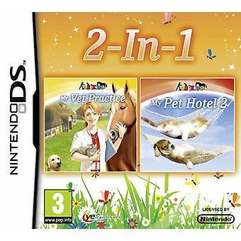 Min veterinär praktik och Pet Hotel 2 dubbel Pack (Nintendo DS3DS)