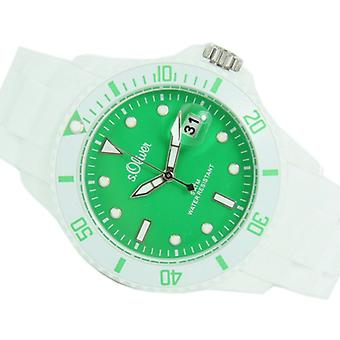 s.Oliver ladies watch Silicon strap watch white green SO-2710-PQ