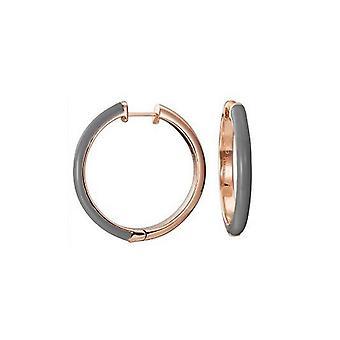 ESPRIT women's earrings Creole stainless steel Rosé Fancy grey ESCO11656E000