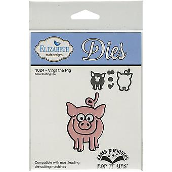 Elizabeth Craft Pop It Up Metal Dies By Karen Burniston-Virgil The Pig