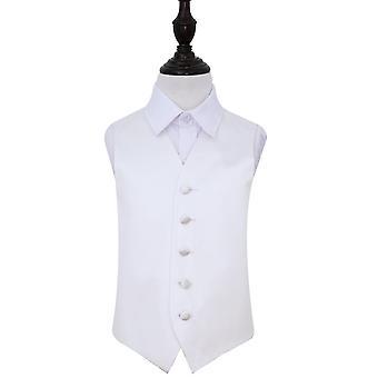 White Plain Satin Wedding Waistcoat for Boys