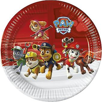Paw patrol party plates Ø 23 cm 8 piece children birthday theme party