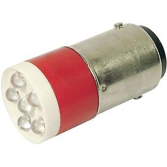 CML LED bulb BA15d Red 24 Vdc, 24 V AC 1260 mcd