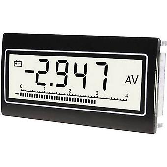 TDE Instruments DPM802-TWVoltmeter and ammeter, Voltage: 0.1 mV - 300 V DC/ACCurrent: 0.1 µA - 10 A DC/AC Assembly dimensions 68 x 33 mm