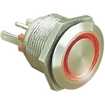 Bulgin MPI002/28/RD Tamper-proof pushbutton 24 Vdc 0.05 A 1 x Off/(On) IP66 momentary 1 pc(s)