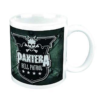 Pantera Mug Hell Patrol band logo new official white Boxed