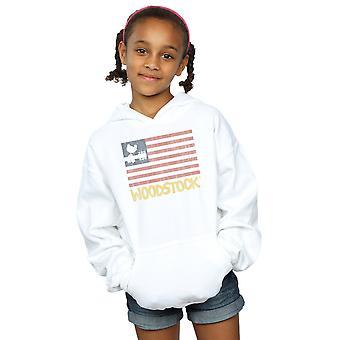 Woodstock Mädchen verzweifelt Flagge Hoodie