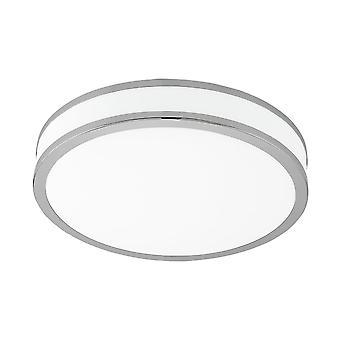 Eglo Palermo 18W Warm White LED Flush Chrome Ceiling Light