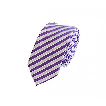 Tie tie tie tie 6cm white-purple striped Fabio Farini