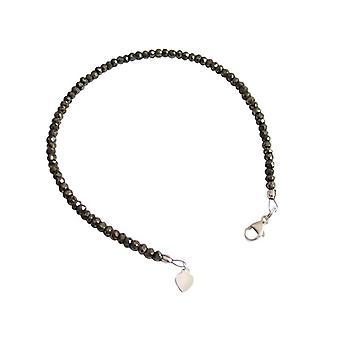 Pyrite bracelet bracelets gemstone Bangle pyrite bracelet 925 Silver Black