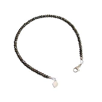 Pyriet armband bracelets edelsteen Bangle pyriet armband 925 zilver zwart
