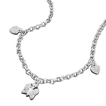 Hearts and butterfly 925 silver necklace