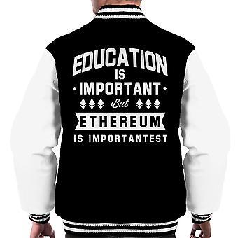 Education Is Important But Ethereum Is Importantest Men's Varsity Jacket