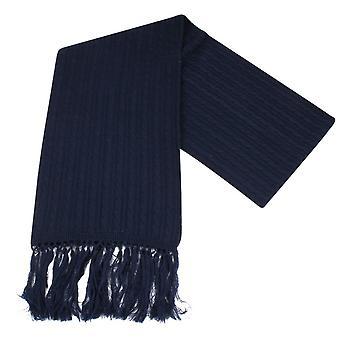 Knightsbridge corbatas de punto bufanda de las lanas - Marina de guerra