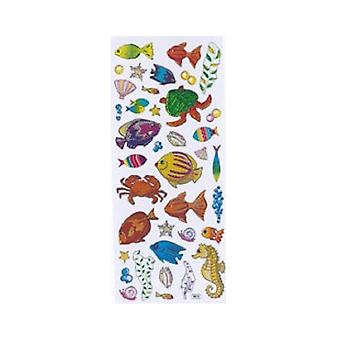 Foiled Sea Life Sticker Sheet for Kids Crafts   Under the Sea Crafts