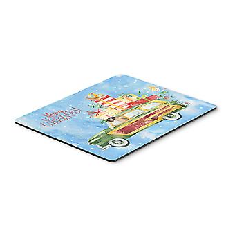 Merry Christmas Great Dane Mouse Pad, Hot Pad or Trivet