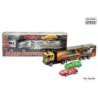 Speedtruck met 2 Racewagens