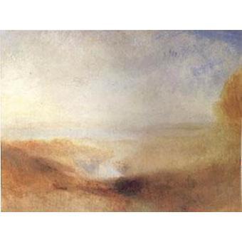 المناظر الطبيعية مع الأنهار البعيدة وخليج، جوزيف وليام تيرنر