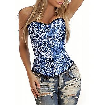 Waooh - Lingerie - Blue Leopard Bustier