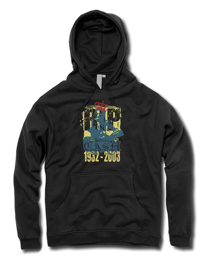 Mens Hoodie - Johhny Cash 1932 - 2003 - Music Legend