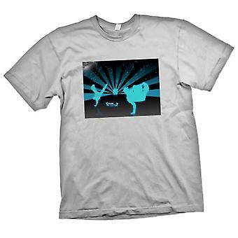 Mens T-Shirts - Break Dance Street Blue - Design