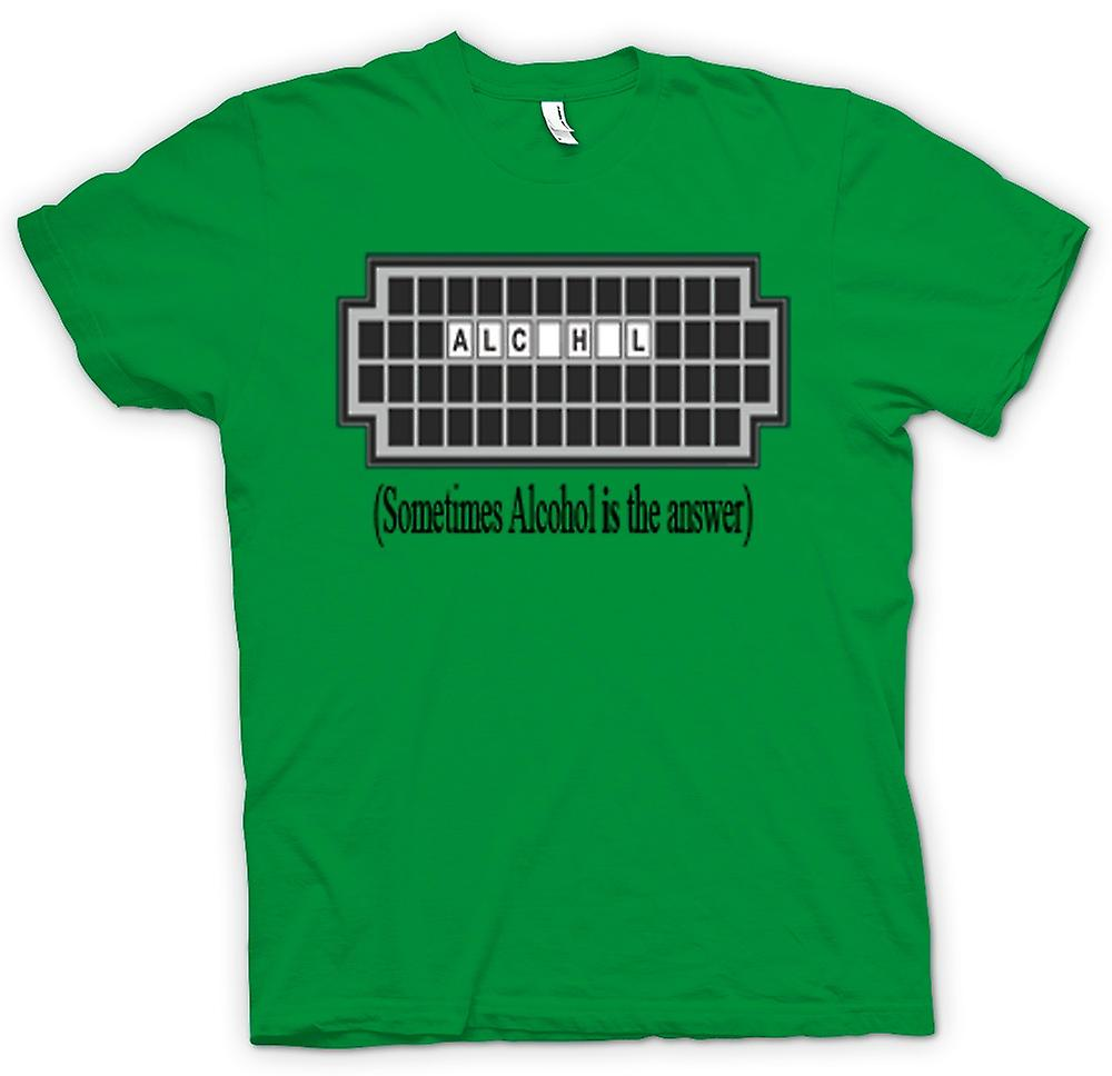 Mens T-shirt - Sometimes Alcohol Is The Answer - Quote