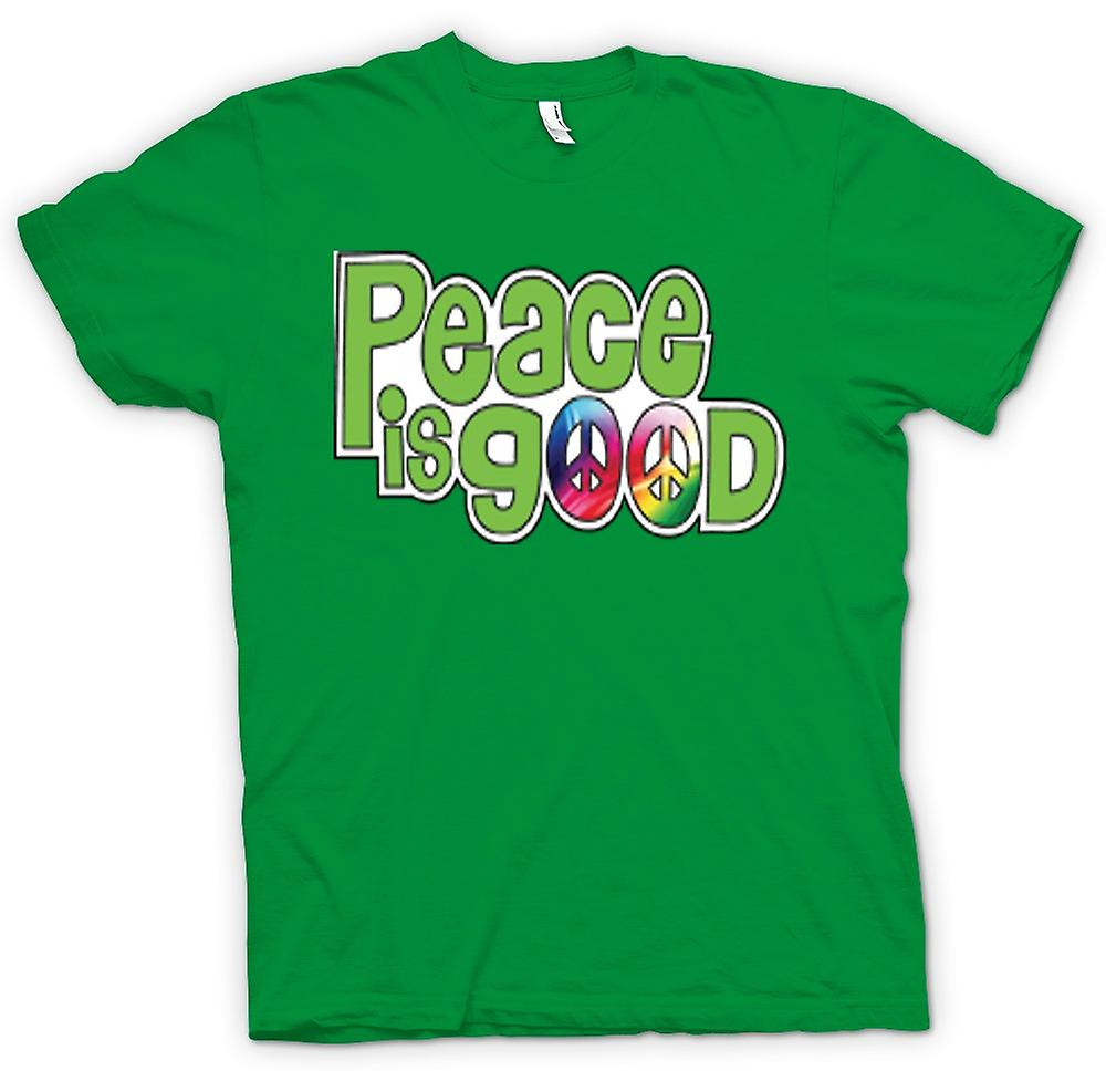 T-shirt des hommes - Peace Is Good - Lettrage