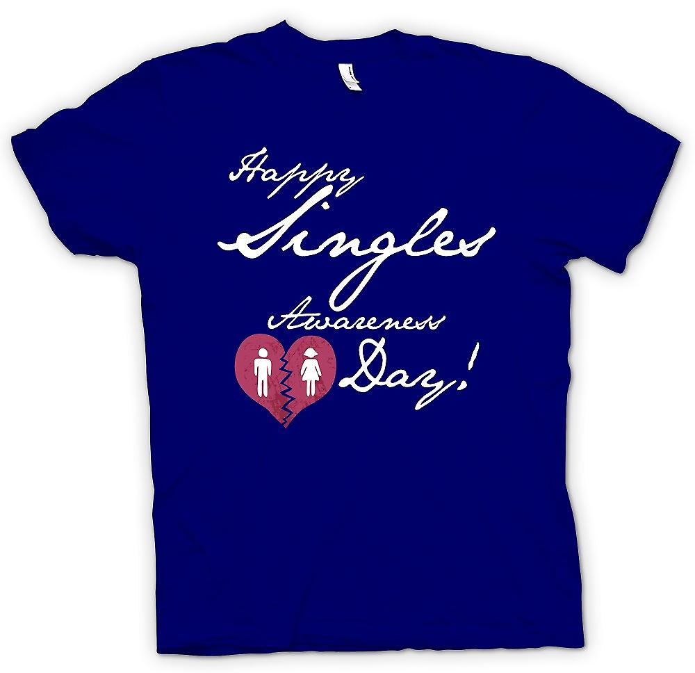 Mens T-shirt - Happy Singles Awareness Day - Funny