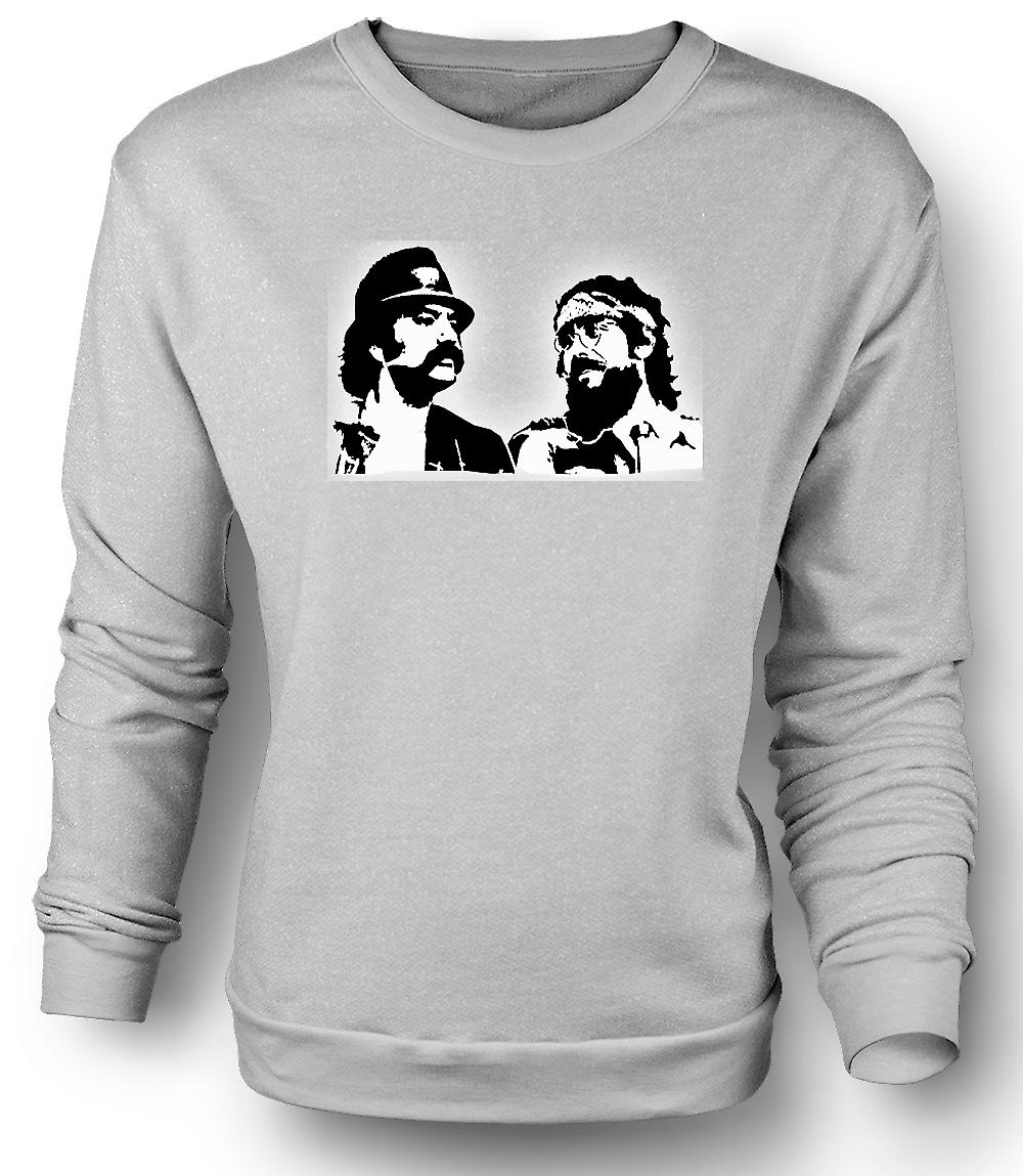 Mens Sweatshirt Cheech en Chong - Comedy Retro