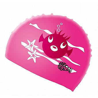 BECO Sealife Junior Silicone Swimming Cap-Pink