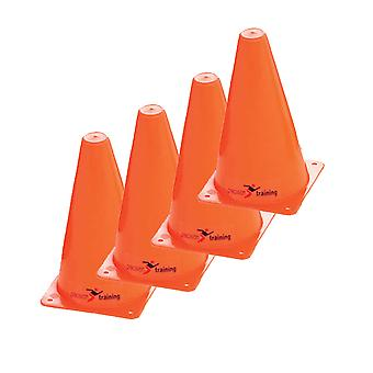 Precision Safety Football Rugby Training Traffic Marker Cones 12'' (Set of 4)