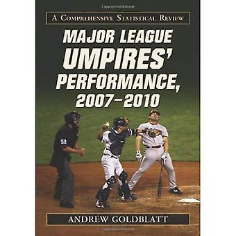 Grandes ligas árbitros rendimiento, 20072010: Un examen estadístico integral