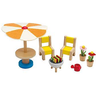 Jeu d'imitation enfant jeux jouets Mobilier de jardin pour maison de poupée 0102110