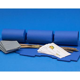 12 Blueberry Blue Make & Fill Your Own Cracker Kits