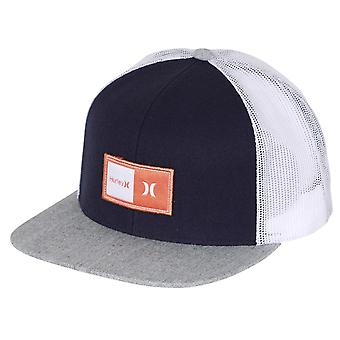 Hurley Men's Snapback Trucker Cap ~ Natural navy