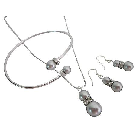 Economical Wedding Low Price Swarovski Pearls Lite Grey