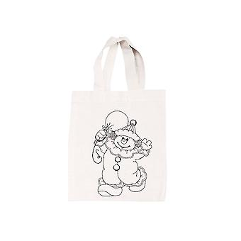 Clown Print Fabric Bag to Decorate and Paint | Fabric Painting Supplies
