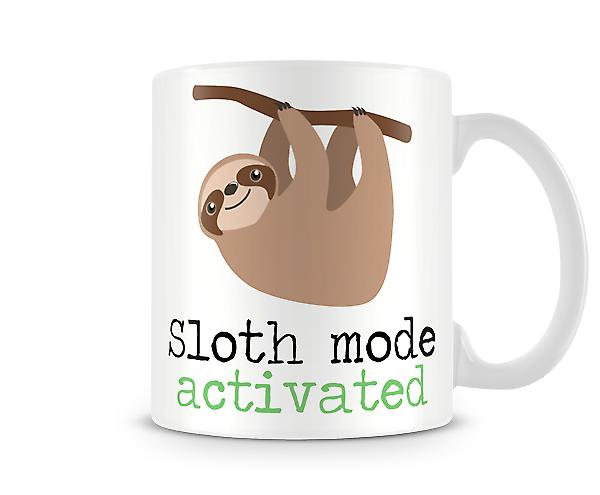 Decorative Writing Sloth Mode Activated Printed Mug