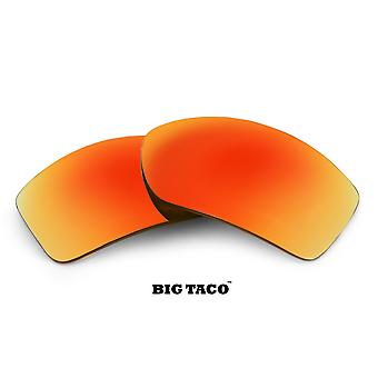 BIG TACO Replacement Lenses Polarized Red Mirror by SEEK fits OAKLEY Sunglasses