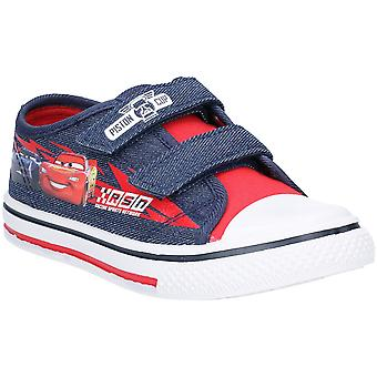 Leomil Boys Cars Low Lightweight Canvas Plimsoll Shoes